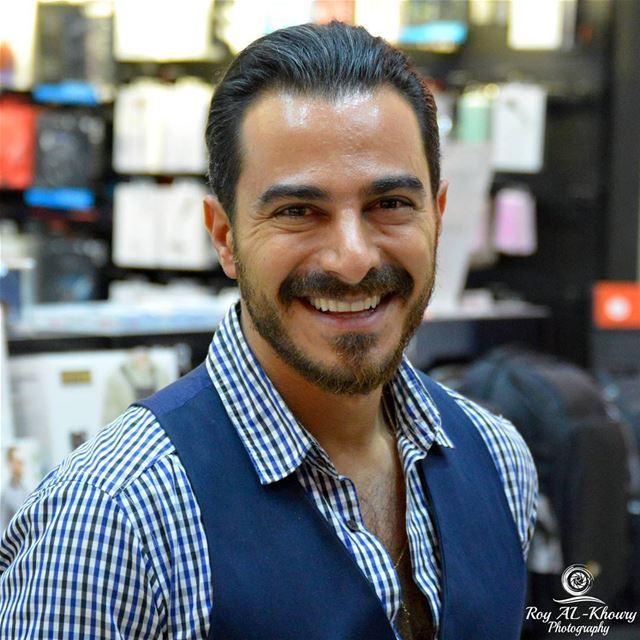 The Actor Radio/Tv host & singer Chady Richa (@sirchadyricha )... (Virgin Megastore Lebanon)
