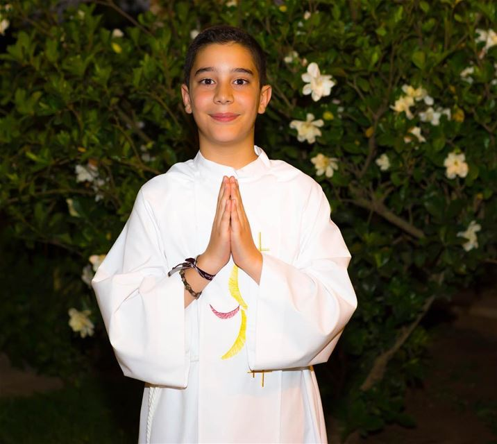 My dearest child, congratulations for taking your first holy communion.... (Beirut, Lebanon)