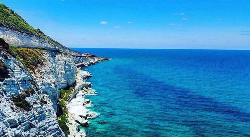 Amazing view from naqoura Photo by @exploringlebanon Share the beauty... (الناقورة / Al Naqoura)