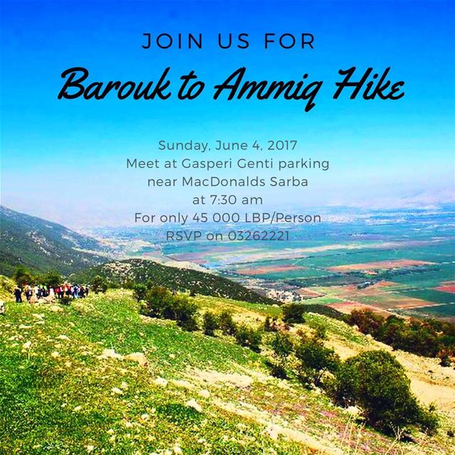 Let's hike together 👭👫Next Sunday from Barouk to Ammiq 💚☀️🍃🌻 with @san (`Ammiq, Béqaa, Lebanon)