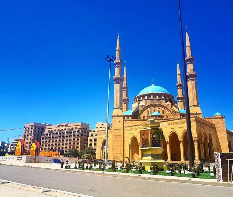 ❤❤❤ ramadan holymonth goodmorning mosque bluesky decoration ... (Beirut, Lebanon)