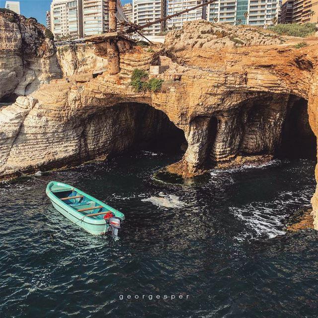 Beirut's hidden sea caves 🇱🇧..... proudlylebanese ... (Beirut, Lebanon)