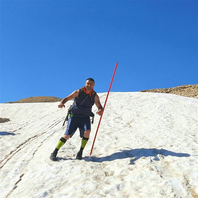 Who told you that you can't ski in may 😃⛷⛷ ski snow slopes ... (Lebanon)