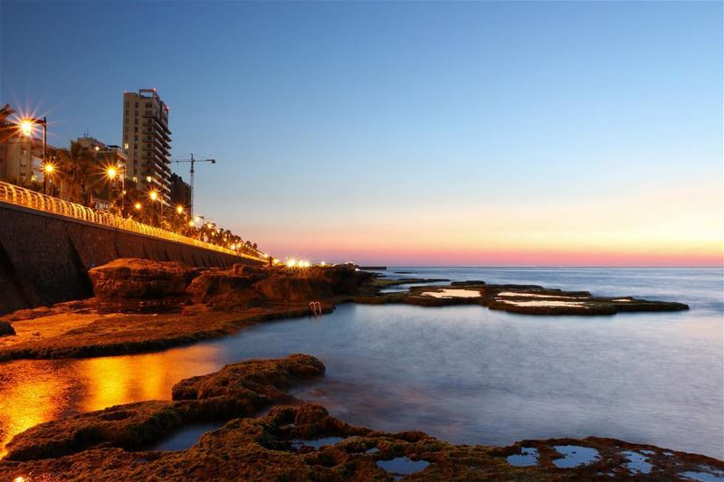 Another peaceful moment.... sunset sunsetpics sunsetlovers landscape... (Beirut, Lebanon)