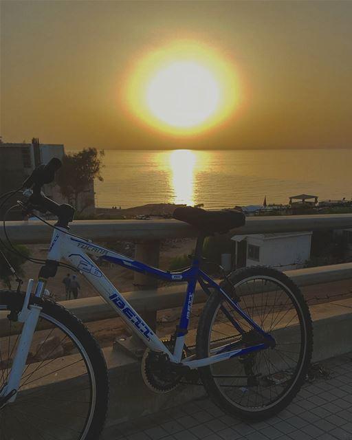 🚲🚲🚲• sunsets lebanon beirut lebanonsea mideterraneansea ... (Khaldeh Blue Waves)