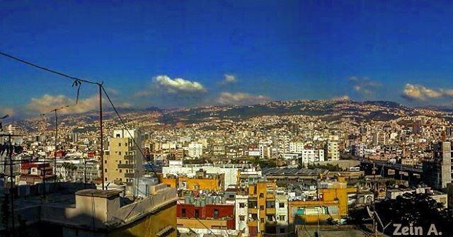 good evening ashrafieh rmeil sky blue clouds landscape travel ... (Rmeil Ashrafieh)