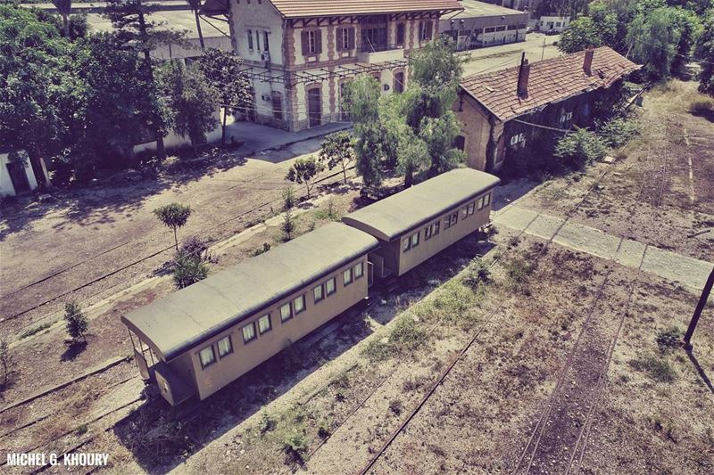 Back to 1972 with the first drone picture of Beirut Train Station...