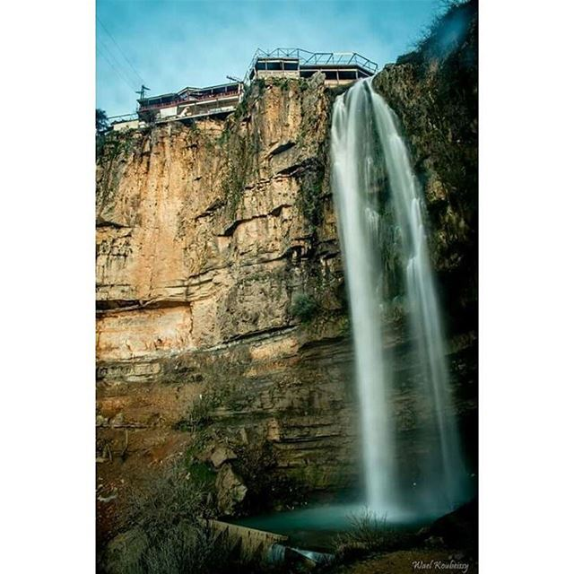 waterfall jezzine waterfalls lebanon nature water longexpo ...