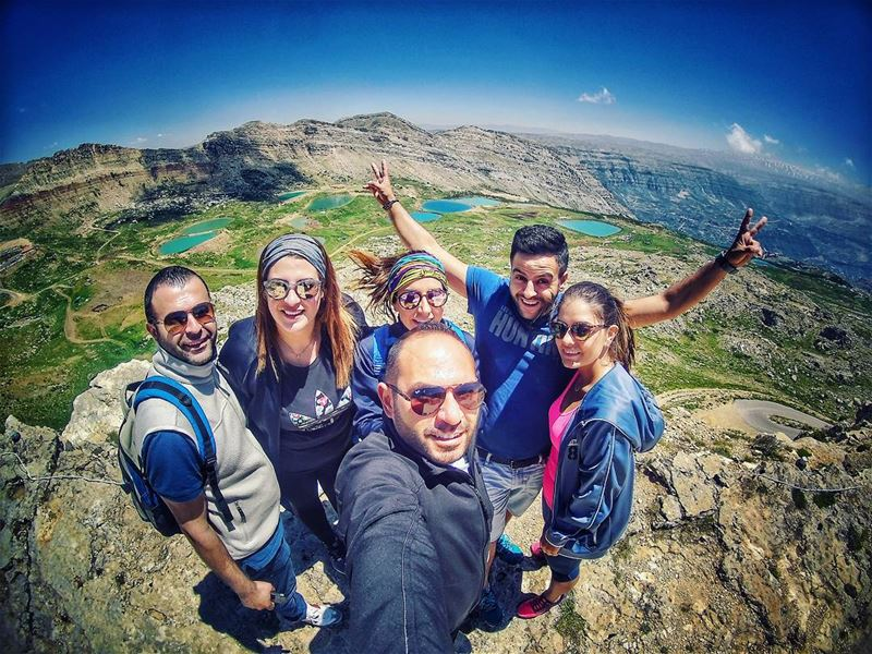 happiness all the way 😁 liveloveakoura hikingtrip ... (Akoura, Mont-Liban, Lebanon)