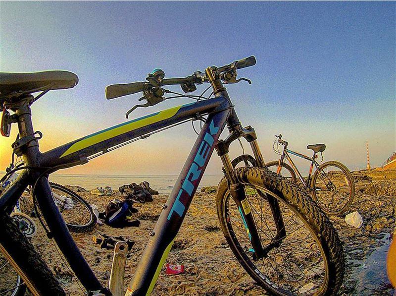 🌅🚲🌅• sunsets lebanon beirut lebanonsea bikeselfie goprolebanon ...
