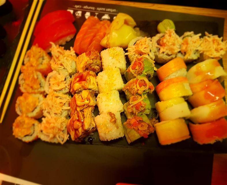 😍😍😍....... lebanoninstagram sushi sushitime obi lebanon ... (OBI Urban Sushi-Badaro)