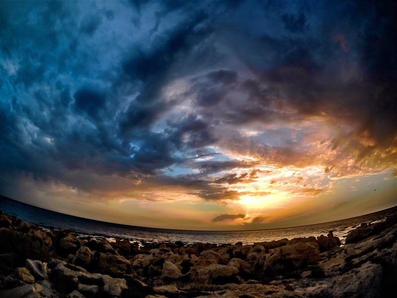 Gate to heaven ⛅️ sunset beach clouds colors horizon landscape ...