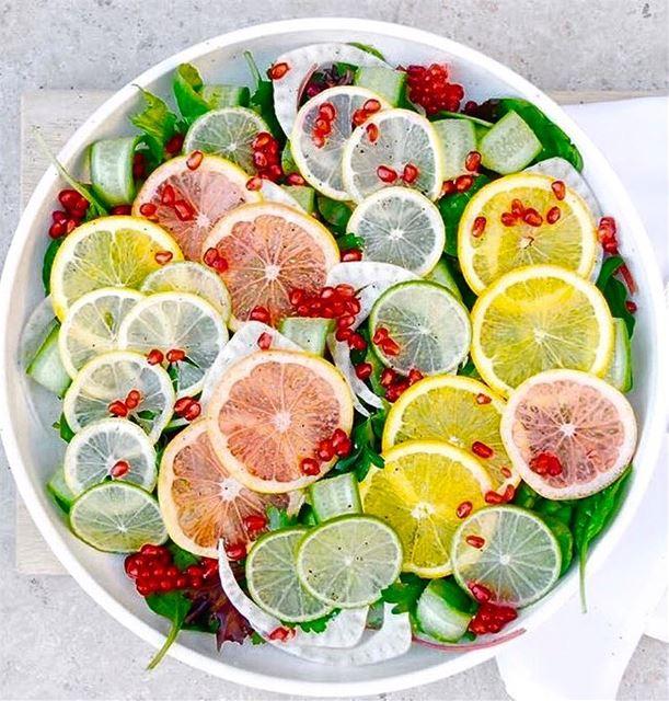 lemon greapfruit orange salad fresh lovefood lovesalad colorful ...