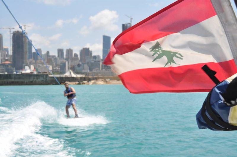 Beirut by the sea ... lebanon beirut watersports ig_lebanon ... (Ain El Mreisse, Beyrouth, Lebanon)