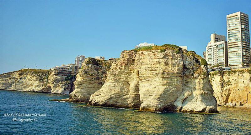 Beirut ❤ Beyrouth Keepcalm Mediterranean Sea Amazing Landscape ... (Pigeon Rock Beirut.)