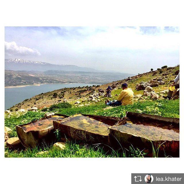 Repost from @lea.khater Take a seat 🌸🌳 walkthroughsaghbine saghbine ... (Saghbîne, Béqaa, Lebanon)
