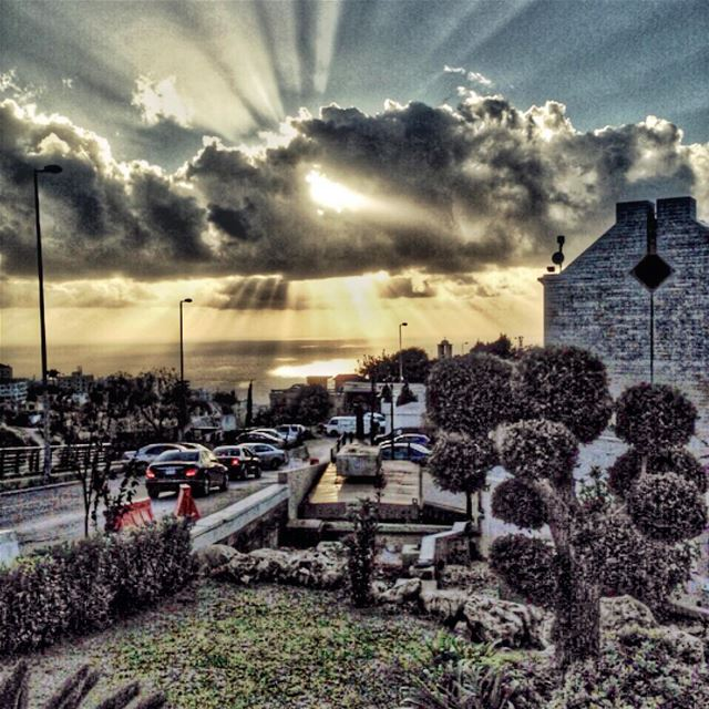 weather sunset sunrise sky sun clouds jbeil byblos livelovebyblos... (Byblos)