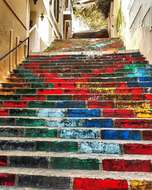 Color is a power which directly the soul 💚💙❤💖  whatsuplebanon... (Achrafieh, Lebanon)