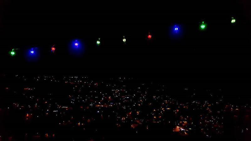 ramdan2017 ramdanspirit spiritoframadan lights fanous nightview ... (Hasbaya)