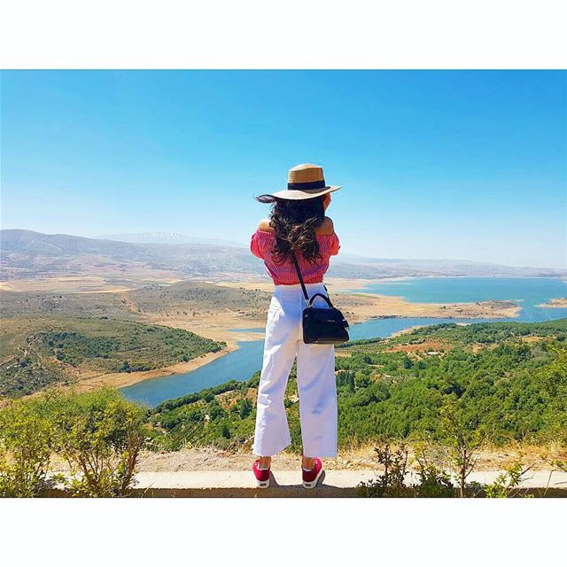 My view for days 🏞 Qaraoun Qaraounlake Bekaavalley Westbekaa... (Lake Qaraoun)