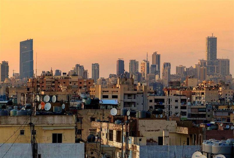 Beirut sunset cityscape lebanon lebanon_hdr insta_lebanon loves_lebanon... (Beirut, Lebanon)