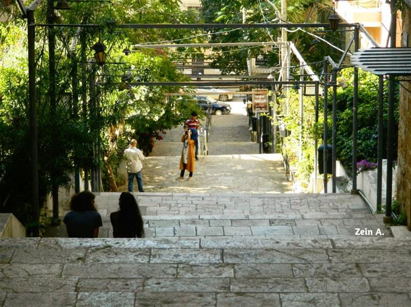 good evening marnicolas stairs escalier gemmayze people ... (درج مار نقولا الجمّيزة)