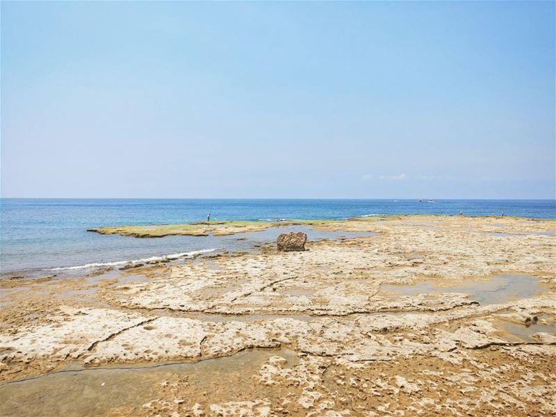 Patience takes time 🎣⏳ lebanon jbeil byblos sea mediterraneansea ... (Byblos - Jbeil)