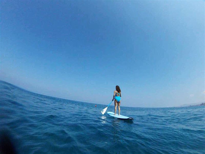 The season is back! Love waking up to this 💙  batroun  paddleboarding ... (Pierre & Friends)