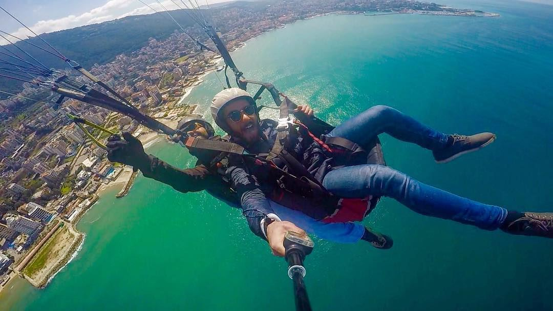 Cause i love the adrenaline in my veins 😎.Thanks @paragliding_clubthermiq (Beirut, Lebanon)