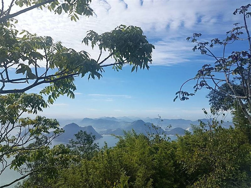 A glimpse of heaven postcard view from Rio sugarloafmountain ... (Pão De Açucar - Sugar Loaf Mountain)