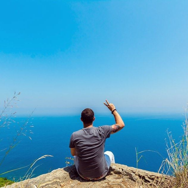 Relaxing at the edge of the world. ••••• iglebanon lebanon_ig ... (Saydet El Nourieh)