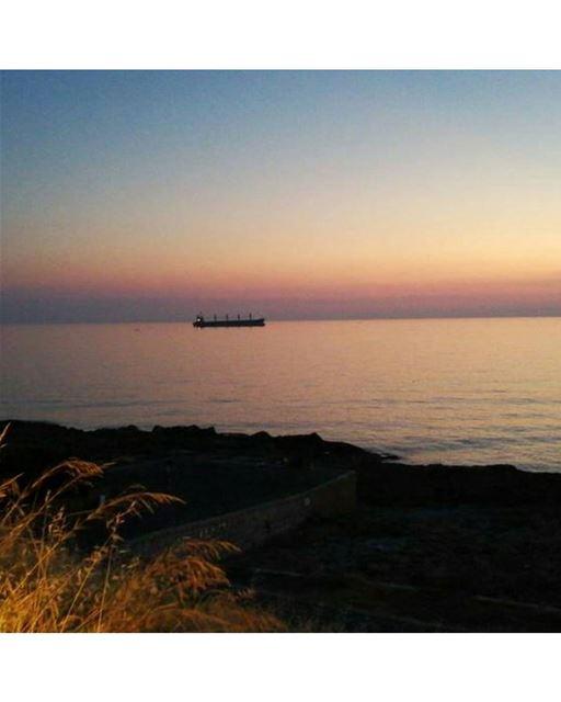 batroun sunset mediterranean sea batrounbeach batrouncoast ... (Batroûn)