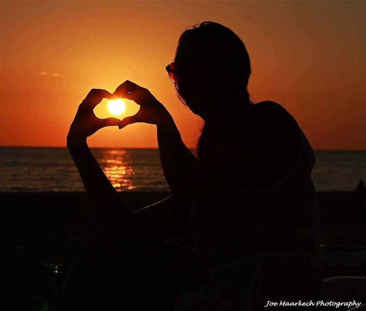 For the love of sunsets... sunset lebanon heart sea ... (The Beach House Okaibe)