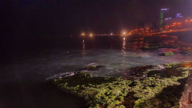 nightview seaview sealover manara beirut beiruting instabeirut ... (Manara Place Cafe)