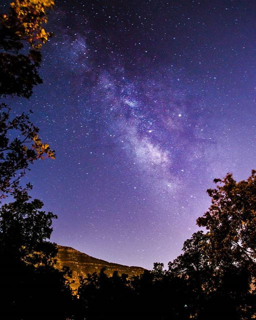 stargazing 🌌🌌..... stargazing stars milkyway galaxy universe... (Akoura, Mont-Liban, Lebanon)