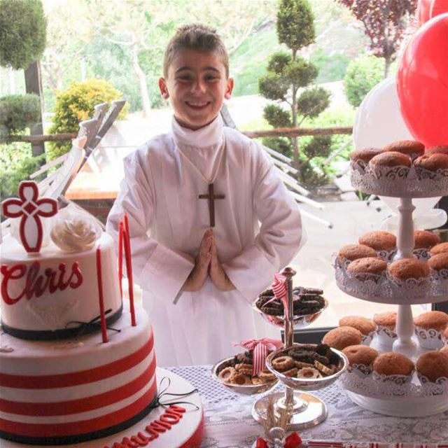 Celebrating the Holy Communion at Jalsat restaurant mayrouba faraya ... (Jalsat)