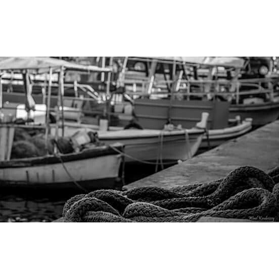 bnw  harbor  sea  shore  blackandwhite  boats  rope  photography ...