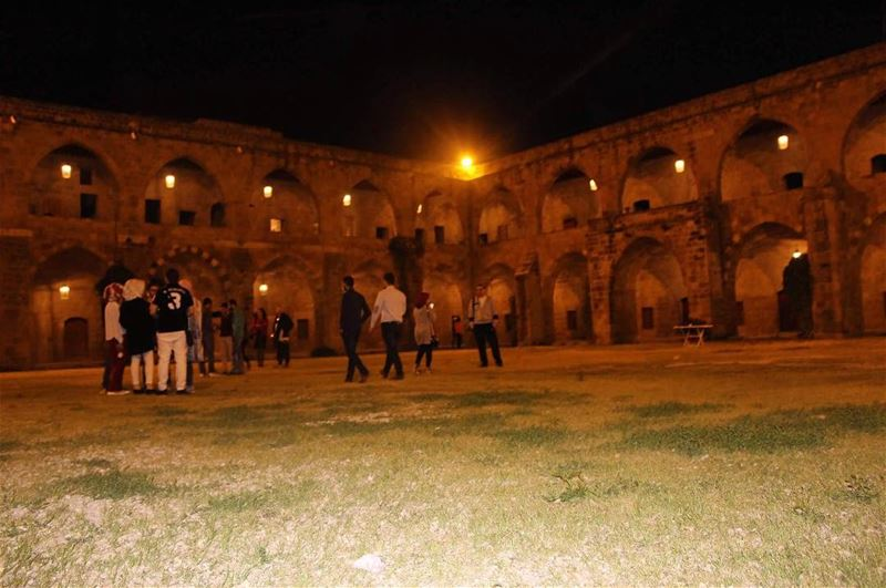 historicalplace saida amazing wonderfullplace classystyle nightview ... (خان الافرنج)