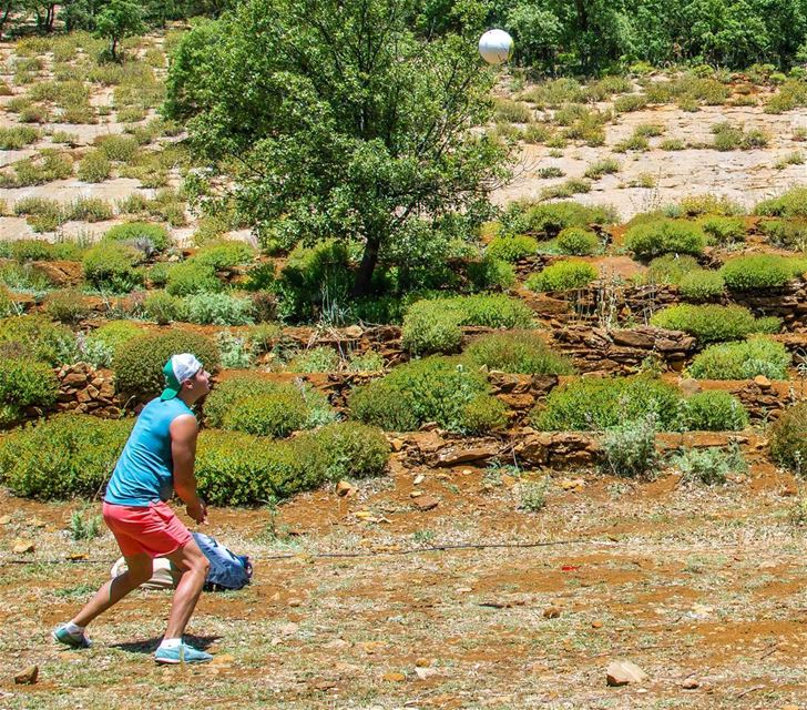 🌳🌿⚽...... camping camp sports volleyball nature ball mountains... (Akoura, Mont-Liban, Lebanon)