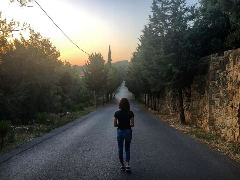 No road is long ... with good company🌲🌞 lebanon lebanon_hdr gopro ... (Yarzeh)