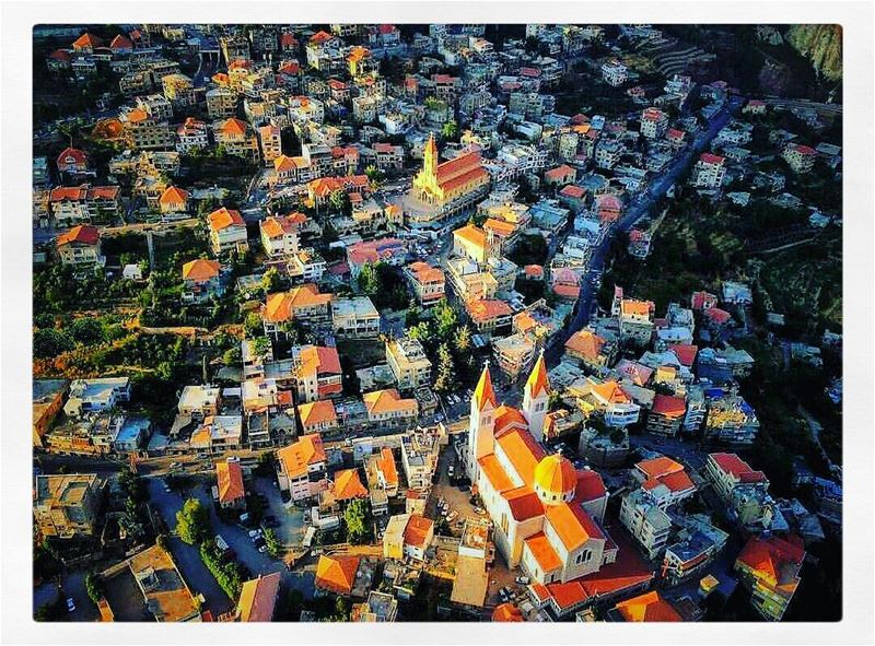 Love from the first sight... bcharre as seen from a paraglider camera! ... (Bsharri, Lebanon)