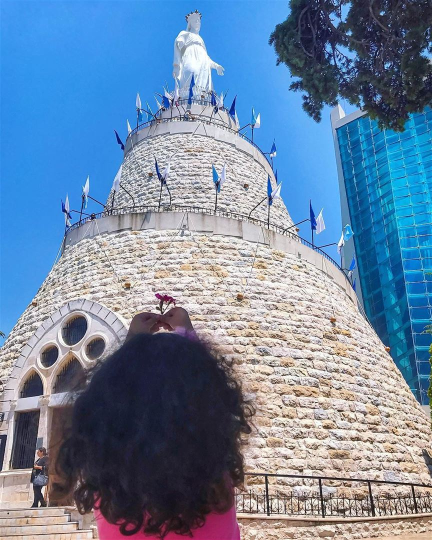 """At the end of the day,All we can do is hope & pray 🙏🏻And """"Thanks God""""... (Our Lady of Lebanon)"""