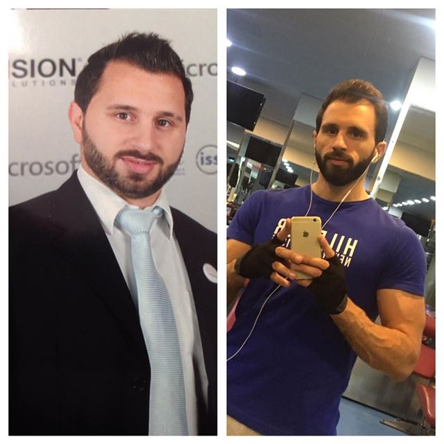 Before and after 🙈 that's how we do it 💪!.. lebanon beirut gym ...