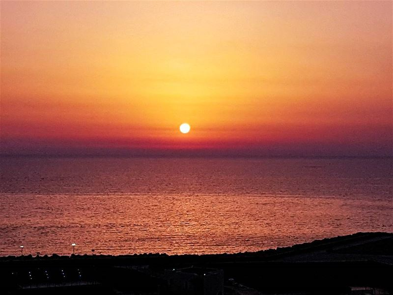 Red is the color  sunset  sunset_madness  sunset_pics  sun  red  ig_sunset... (Ras Beirut)