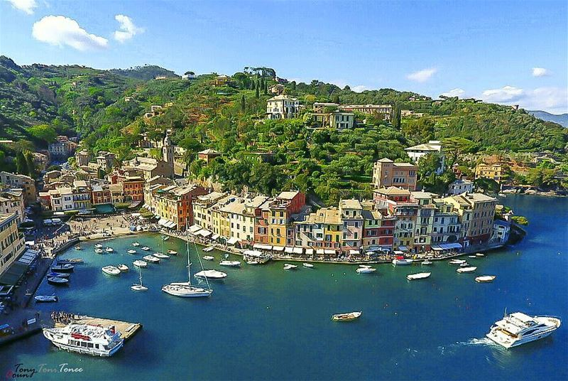 Once a year, try to live a new adventure ... go someplace you've never... (Portofino Port)