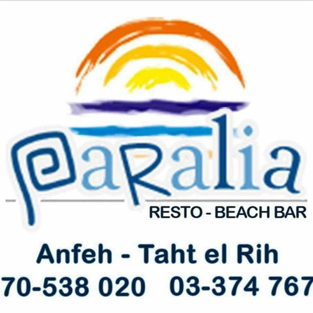 Smile and enjoy the weekendParalia-Bar Tahet El-Rih... Whatsapp: +961 78...