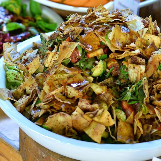 The terrific salad for Iftar is Fattoush, loaded with healthy veggies and...