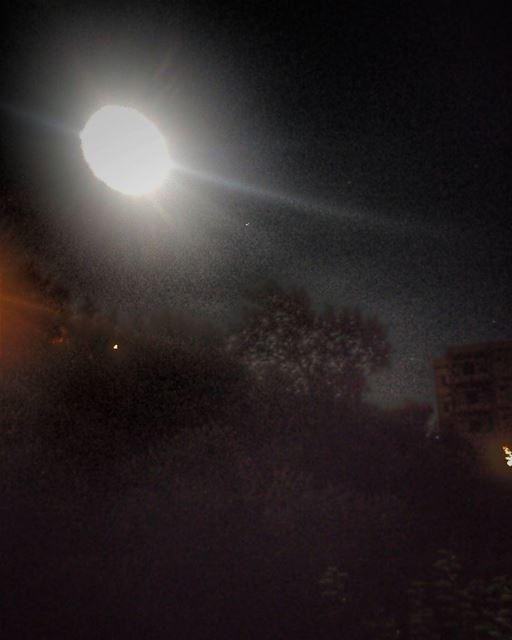 moon night picofthenight bigmoon lebanon_hdr lebanon chhim ... (Chouf)