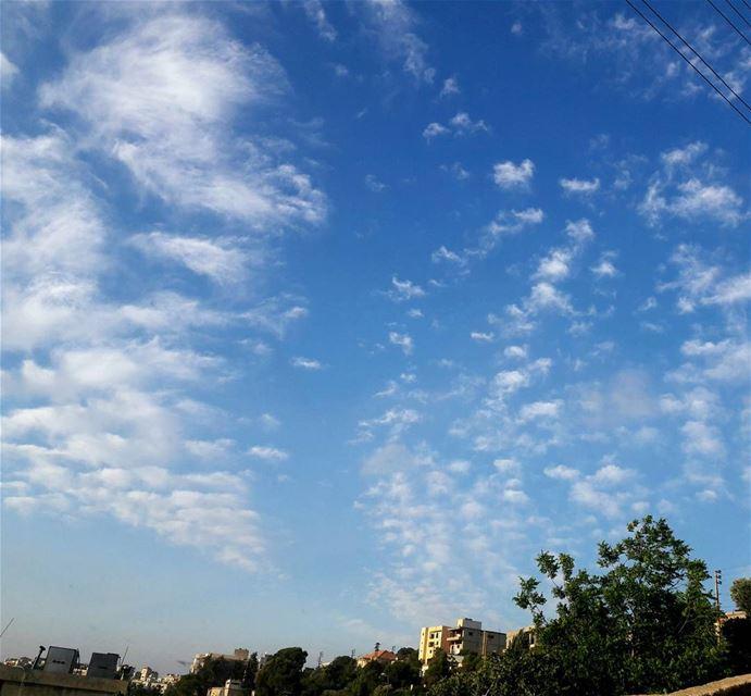 Random clouds spreaded scattered Beautiful Nature beauty ... (Al Khiyam, Al Janub, Lebanon)