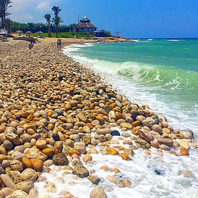 A pebble is a rock that got prettier with time. Be a pebble;)::::::::::::: (Damour, Lebanon)